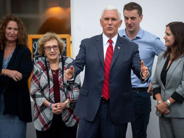 PHOTO: Vice President Mike Pence, his wife Karen Pence, right, his sister Anne Pence Poynter, left, and his mother Nancy Pence Fritsch arrive in Doonbeg, Ireland, Sept. 3, 2019.