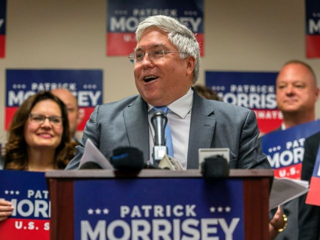 PHOTO: This June 5, 2018 file photo shows West Virginia Attorney General and GOP Senate candidate Patrick Morrisey at a press conference in Charleston, W.Va.