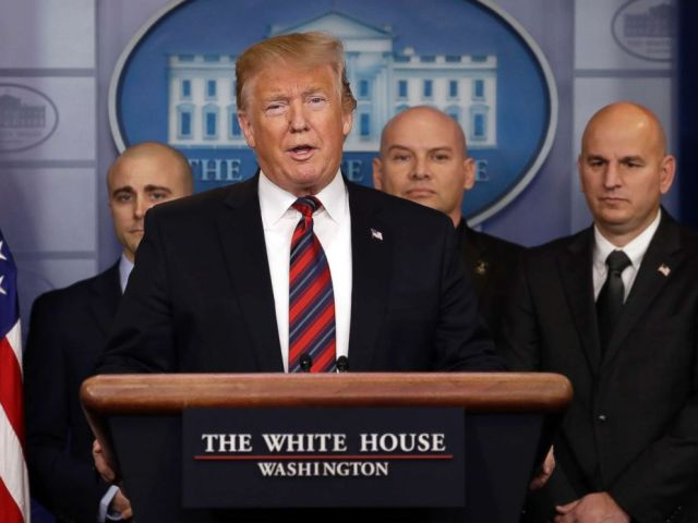 PHOTO: President Donald Trump speaks in the press briefing room at the White House, Jan. 3, 2019, in Washington.