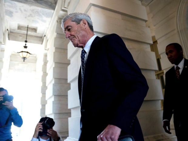 In this June 21, 2017 photo, Special Counsel Robert Mueller departs Capitol Hill.