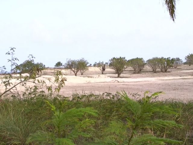PHOTO: Ten years later, the lots once slated to be the site of Trump-branded luxury villas are still dirt and brush.