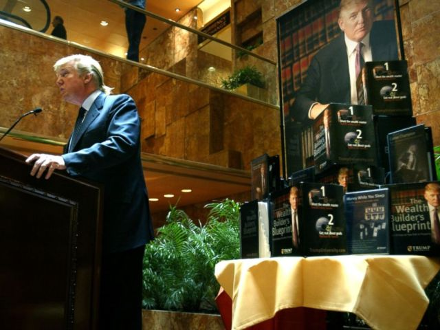 PHOTO: Donald Trump speaks at a press conference in New York to announce the establishment of Trump University, May 23, 2005.