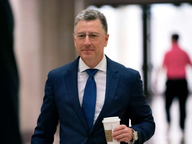 PHOTO: Kurt Volker, a former special envoy to Ukraine, arrives for a closed-door interview with House investigators, as House Democrats proceed with the impeachment inquiry of President Donald Trump, at the Capitol in Washington, Oct. 3, 2019.