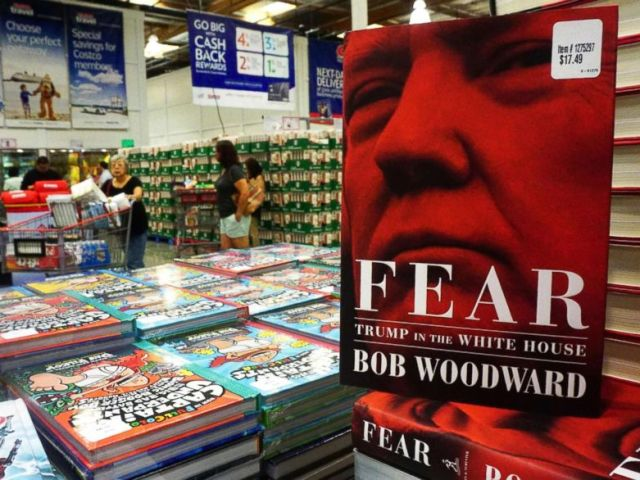 PHOTO: Bob Woodwards latest book Fear: Trump in the White House is displayed for sale upon releaase at a Costco store in Alhambra, Calif., Sept. 11, 2018.
