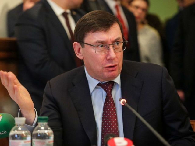 PHOTO: Prosecutor General of Ukraine Yuriy Lutsenko talks to lawmakers during the sitting of the Parliamentary Comittee on Legislative Support of Law Enforcement in Kyiv, Ukraine, Feb. 6, 2019.