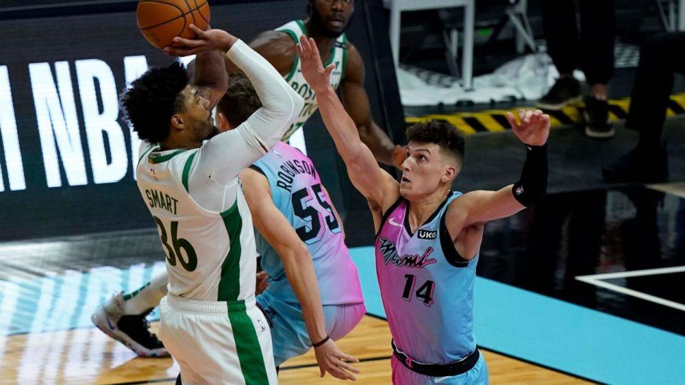 Pritchard's putback pushes Celtics past Heat, 107-105 - ABC News