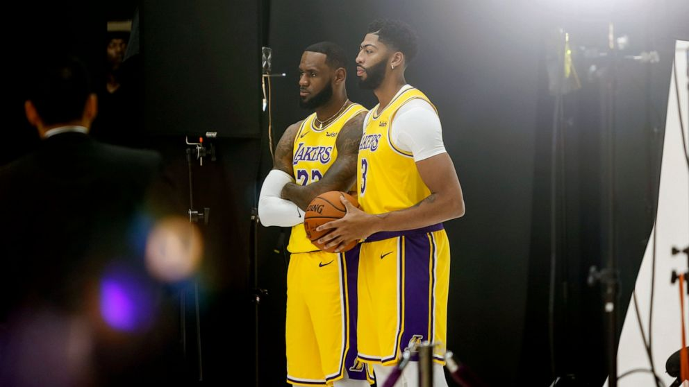 Lakers start season with LeBron, AD already sharing a bond - ABC News