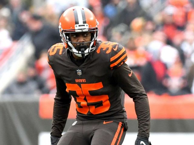 NFL PHOTO:Defensive back Jermaine Whitehead #35 of the Cleveland Browns awaits the snap on a punt in the first quarter of a game against the Cincinnati Bengals, Dec. 23, 2018, in Cleveland, Ohio.