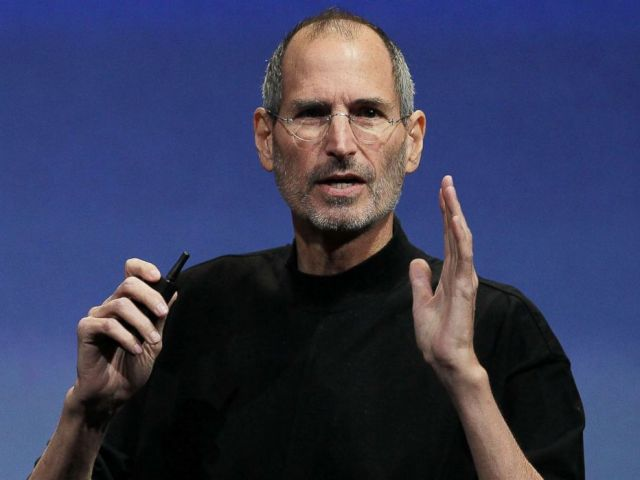 PHOTO: Apple CEO Steve Jobs speaks during an Apple special event in Cupertino, Calif., April 8, 2010.