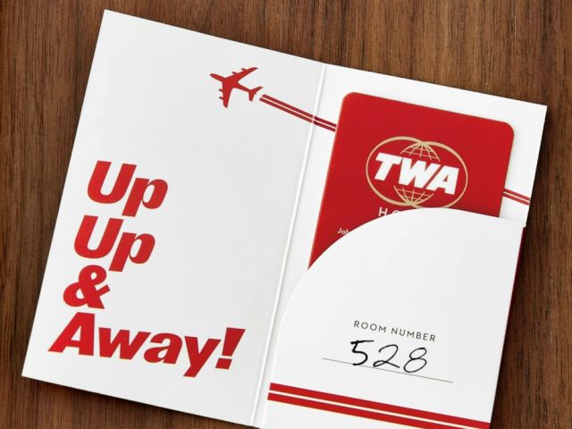 PHOTO: Guest room 528 honors, May 28, 1962. Opening day of the TWA Flight Center.