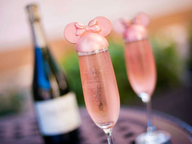 PHOTO: At Disney Springs, Amorette's Patisserie is pouring a sweet sip beginning next week – the Millennial Pink Celebration Toast! Enjoy a tall glass of Fairy Tale Celebration Cuvee topped with adorable millennial pink chocolate ears.