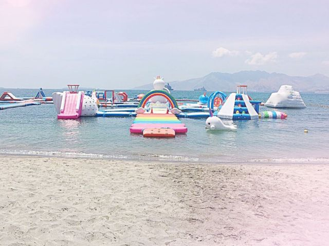 PHOTO: The Inflatable Island in the Philippines is the largest floating playground in Asia.