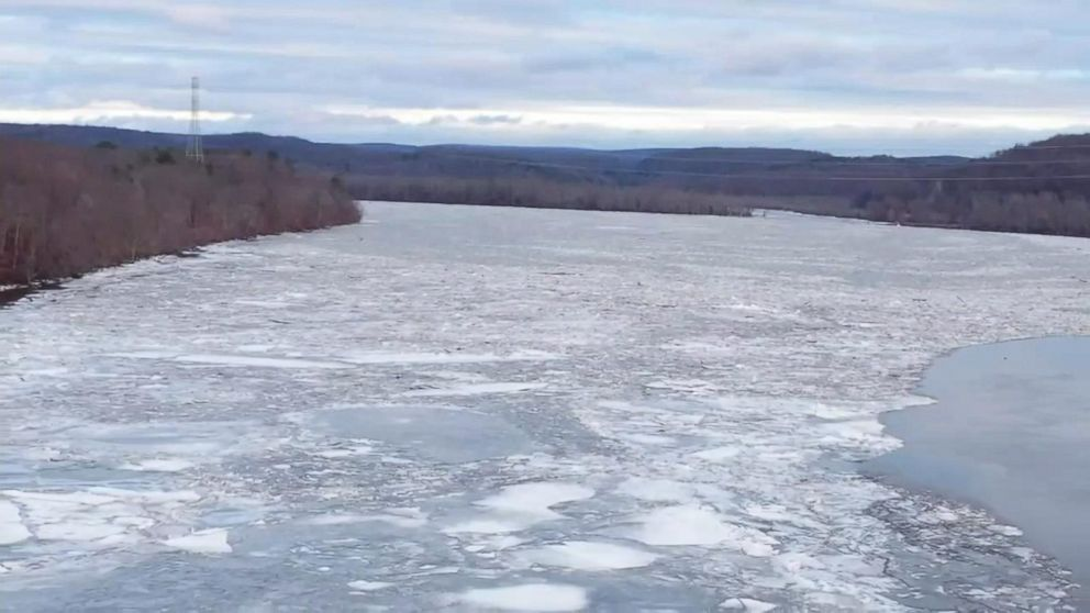 Drone Captures Ice Jams On Connecticut River Video ABC News