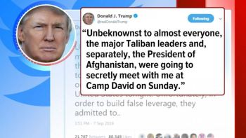 Image result for TRUMP CANCEL MEETING WITH TALIBAN