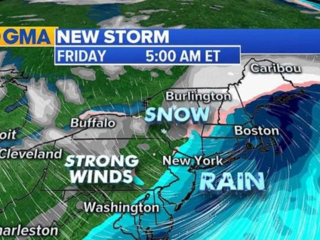 PHOTO: Some areas along I-95 could see a brief period of snow towards the end of the week.