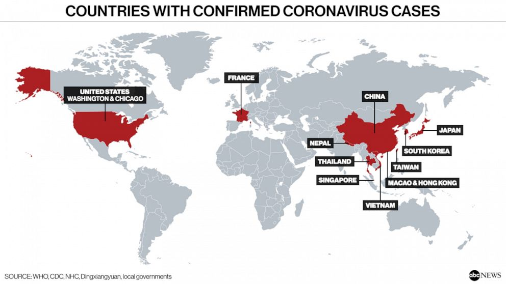 2nd US coronavirus patient confirmed as 1st cases reported in ...