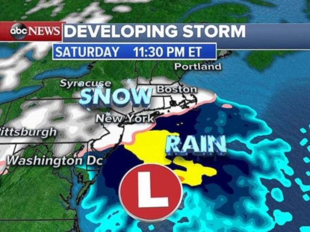 Snow will arrive in Boston just before midnight and leave 3 to 6 inches.