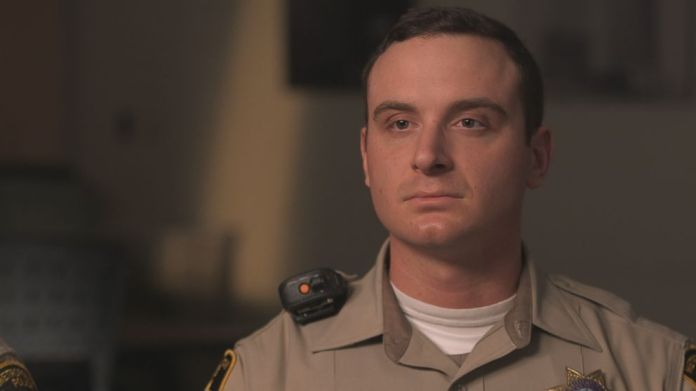 Officer Brandon Engstrom is seen here during an interview with Nightline.