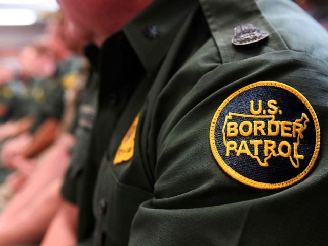 PHOTO: A Customs and Border patrol agent attends an event on immigration and border security at the U.S. Border Patrol Calexico Station in Calexico, Calif., April 5, 2019.