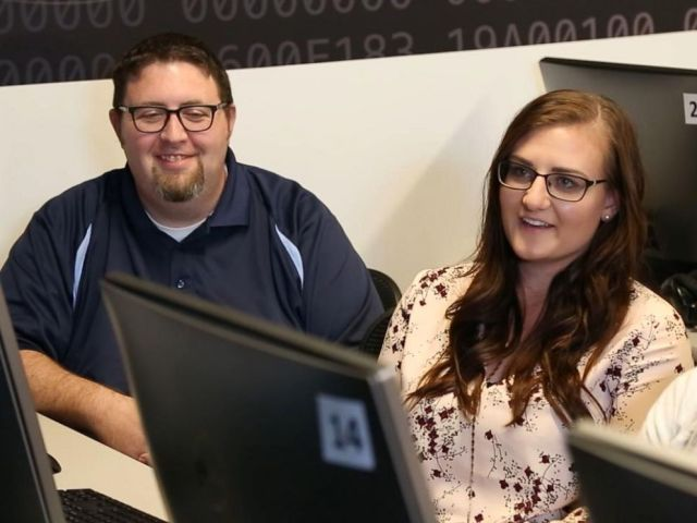 PHOTO: Jeff Smiths students at the University of Colorado Denver are learning to use the latest technology to identify fake media.