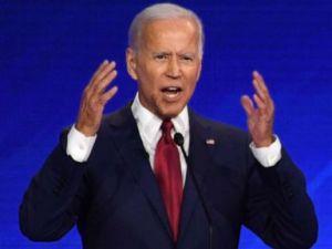 PHOTO: Democratic presidential hopeful former Vice President Joe Biden speaks during the third Democratic primary debate at Texas Southern University in Houston, Sept. 12, 2019.