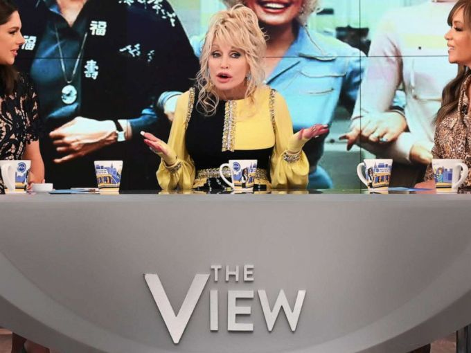Resulta ng larawan para sa dolly parton on the view