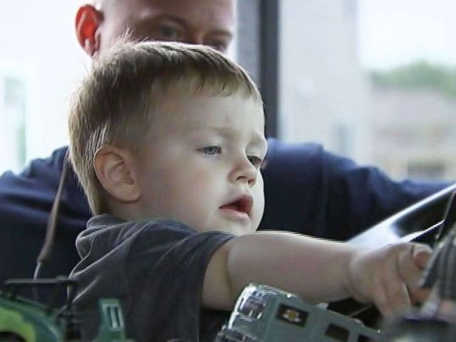 PHOTO: Firefighters in Harrisburg, N.C. threw Jackson Reid a party for his third birthday when most of the guests had to cancel from the party that his mother had planned.