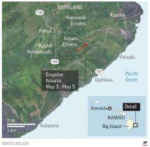 Hawaiian Volcano Big Island Map Imgurl