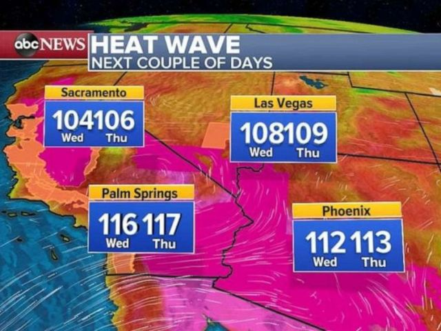PHOTO: It will be hot in the Southwest.