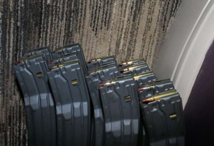 Police found over 5,000 unused rounds of ammunition inside Paddocks suite.