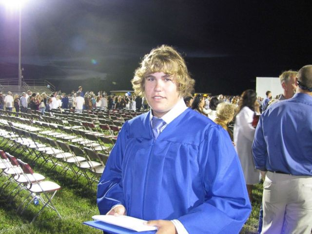 Cam Underwood is seen here at his high school graduation in 2010.