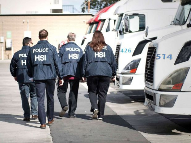 PHOTO: Homeland Security Investigations agents from the U.S. Immigration and Customs Enforcement (ICE) are seen in this undated photo.