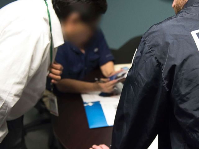 PHOTO: A Homeland Security Investigations agent from the U.S. Immigration and Customs Enforcement (ICE) is seen in this undated photo.