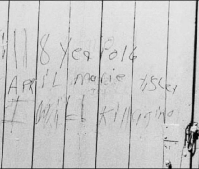 Photo In May  Law Enforcement Found Writing On A Barn From April Tinsleys Suspected