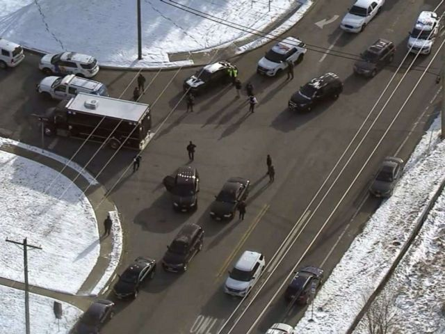 PHOTO: Law enforcement authorities respond to the scene of a reported shooting in Logan Township, N.J., Jan. 14, 2019.