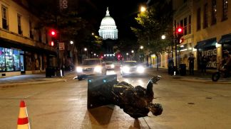 Overnight Unrest In Madison, Wisconsin, Leaves Statues Toppled and State Senator Injured