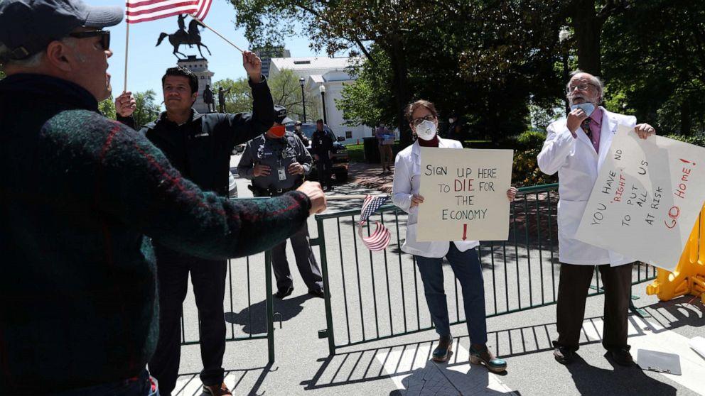 Lockdown Protestors Signs