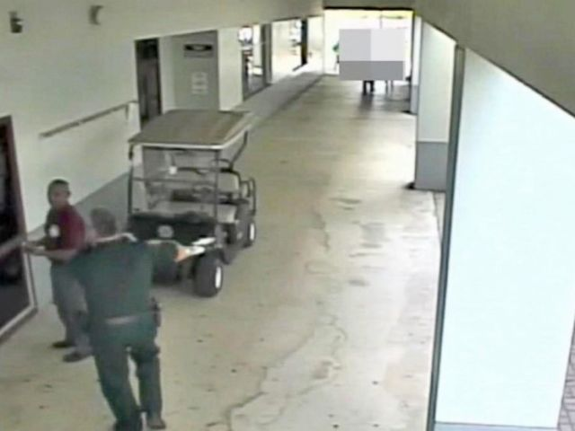 PHOTO: New surveillance video released reveals the moments that followed at Marjory Stoneman Douglas High School after a gunman started opening fire at the Parkland, Fla., campus.