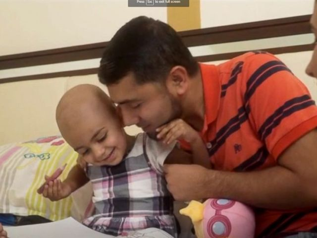 PHOTO: Florida resident Zainab Mughal, 2, needs a rare blood group to support his neuroblastoma treatment.