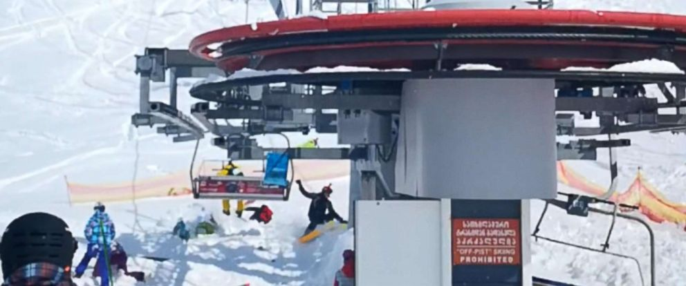 ski chair lift malfunction x rocker chairs several people hurt after terrifying at georgia resort abc news