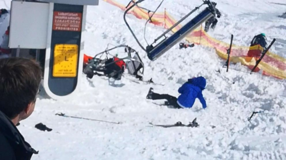 ski chair lift malfunction cover hire harrogate several people hurt after terrifying at georgia malfunctioning equipment gudauri resort located on the south facing plateau of greater