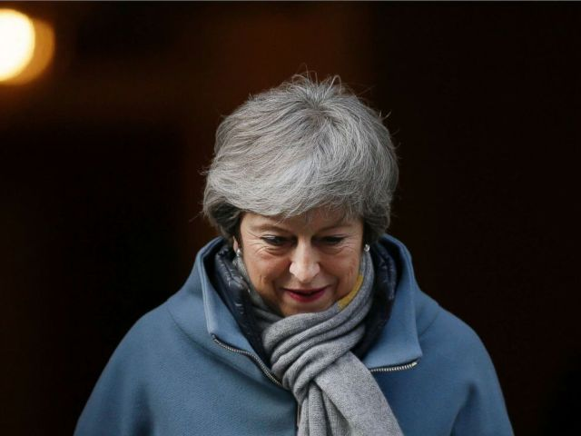 PHOTO: Britains Prime Minister Theresa May leaves 10 Downing street in London, March 14, 2019.