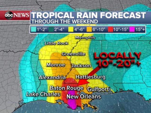 PHOTO: Tropical Rain Forecast: Through the Weekend