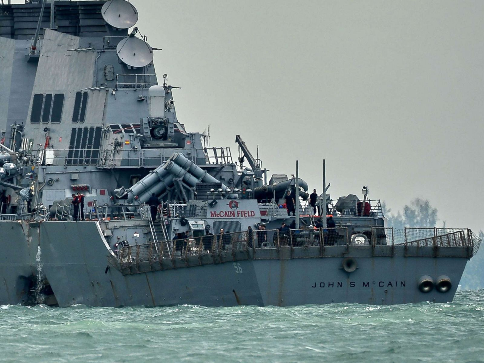 uss mccain the 4th navy warship to crash in asia this year