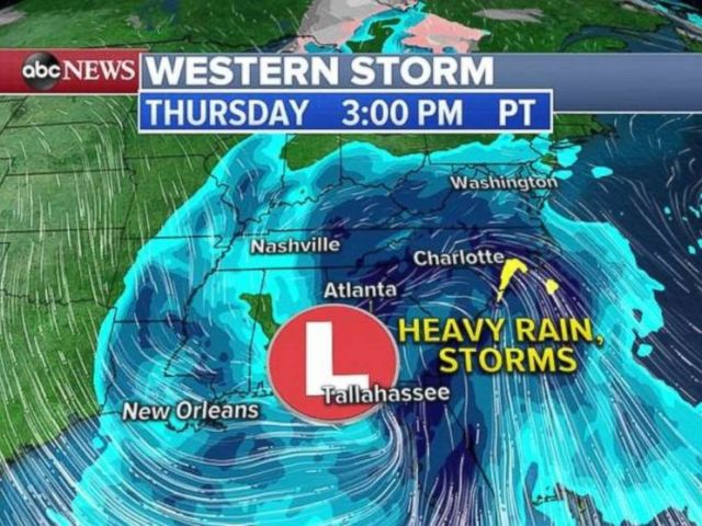 By Thursday, the current western storm will have made its way across much of the U.S.
