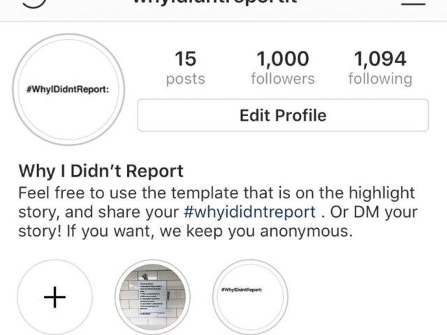 FOTO: la cuenta de Instagram de whyididntreportit.