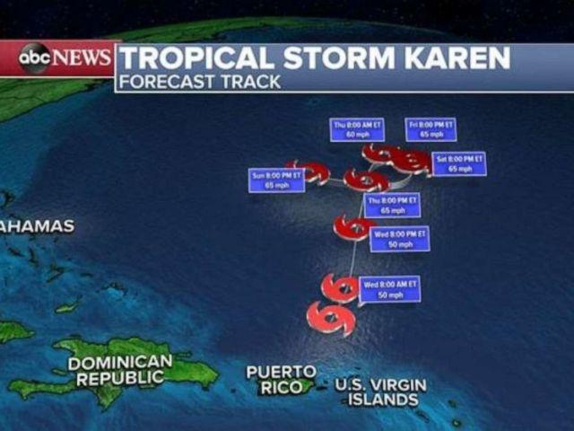 PHOTO: Tropical Storm Karen
