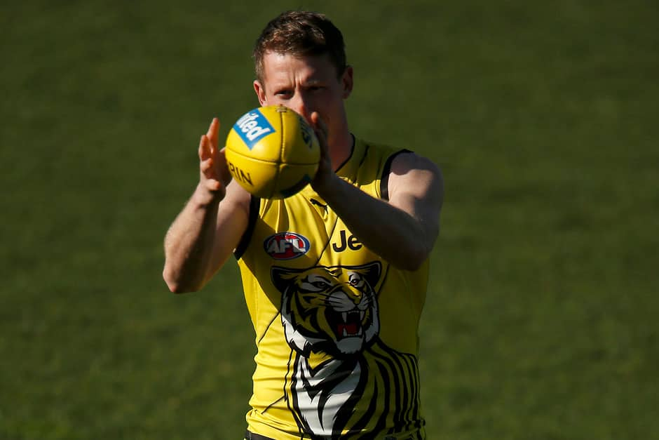 Dylan Grimes left the training track early on Saturday - AFL,Richmond Tigers,Dylan Grimes