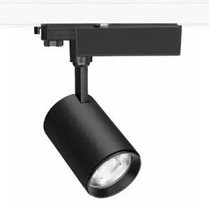 shop gakkery museum clothes store track spotlights horizontal power box 25w cob led track rail lights
