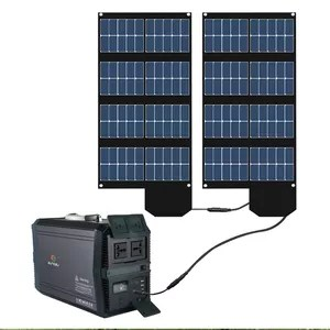 new 1500w outdoor camping home emergency backup power portable solar generator solar panel kit